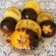 Экзотический сорт томатов Элма голубая